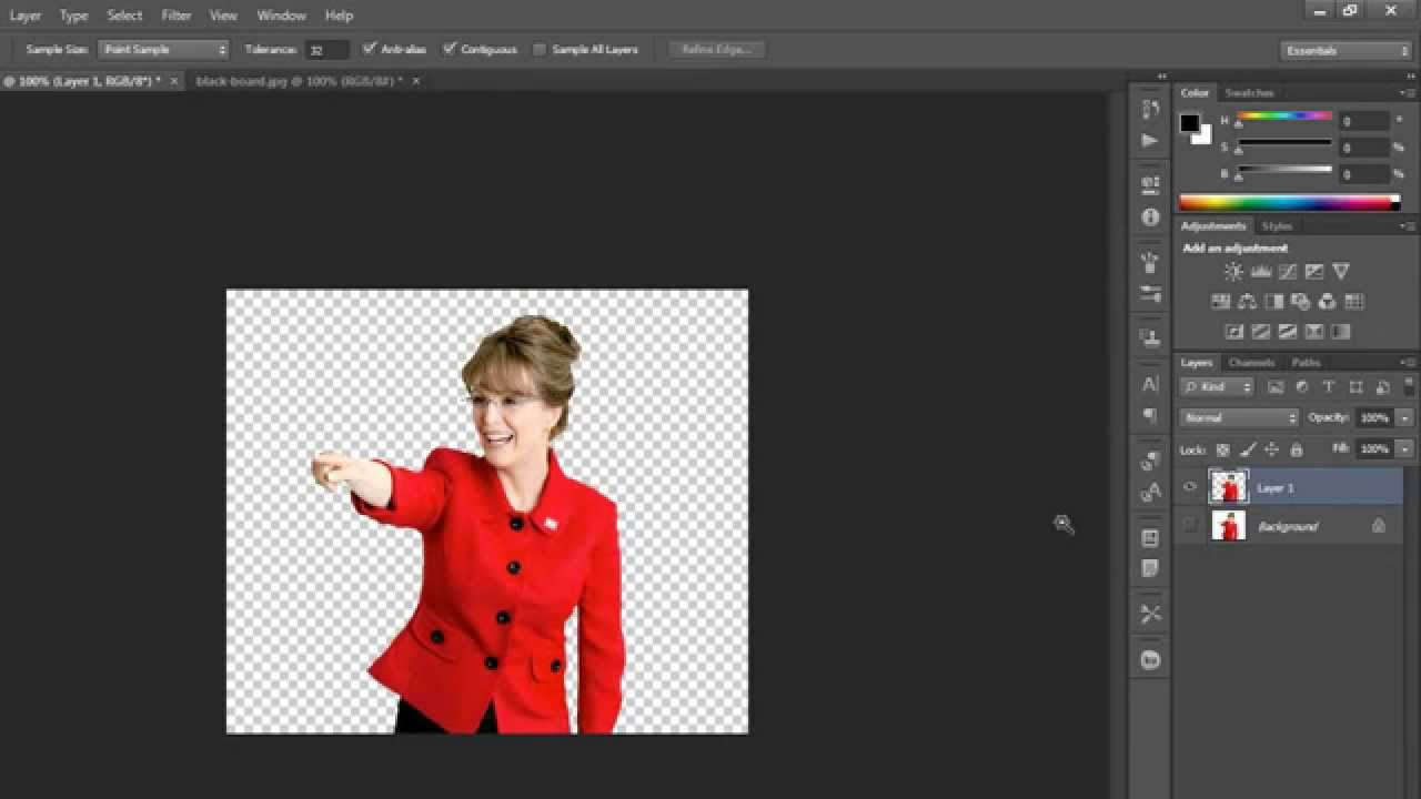 How to convert a JPG image into PNG format in Photoshop ( in Tamil).