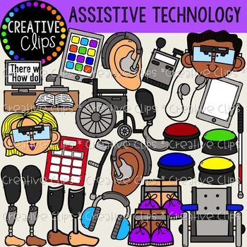 Assistive Devices and Technology {Creative Clips Clipart}.