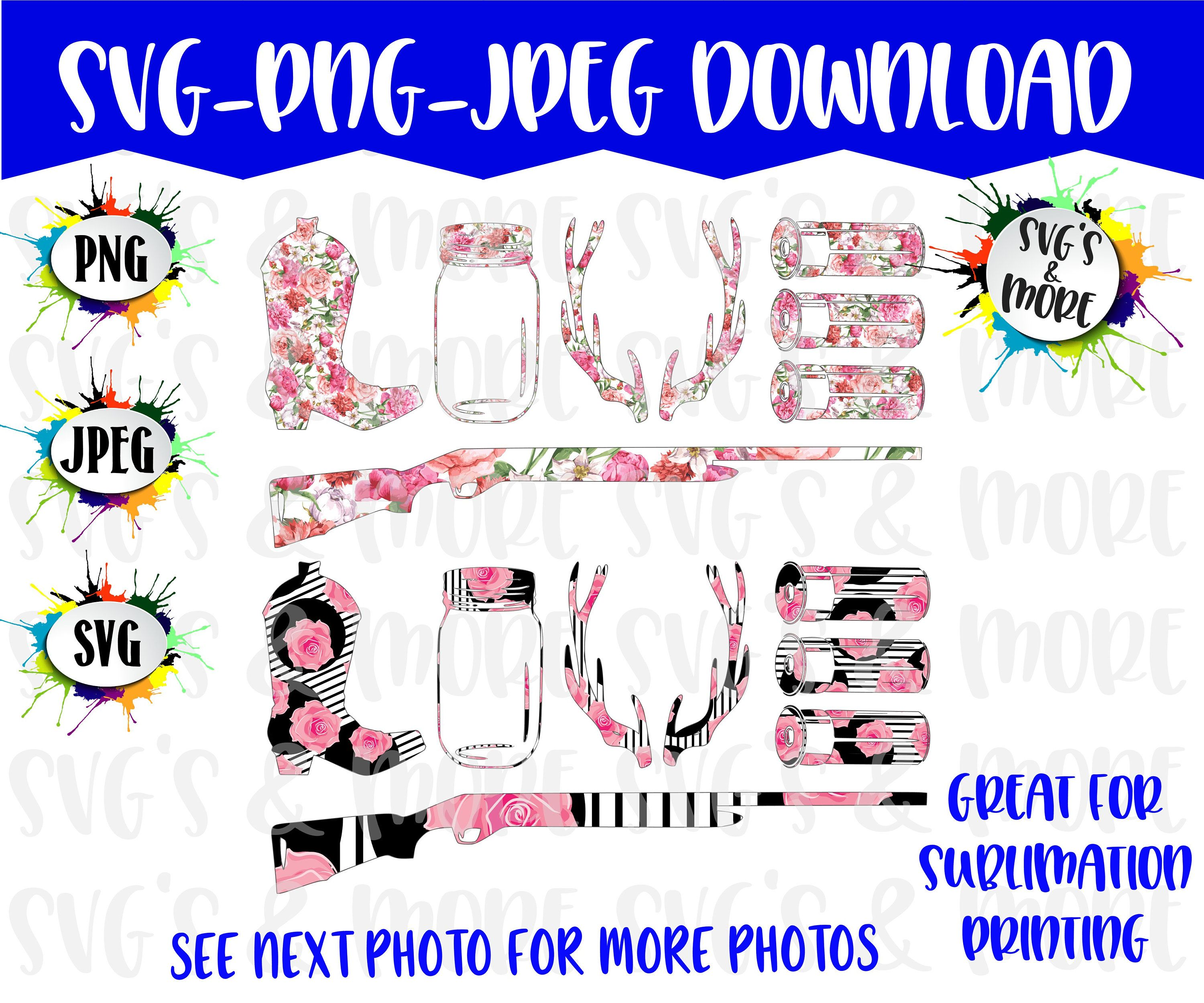Sublimation Files, PNG Files, SVG Files, JPEG, Love Hunting.