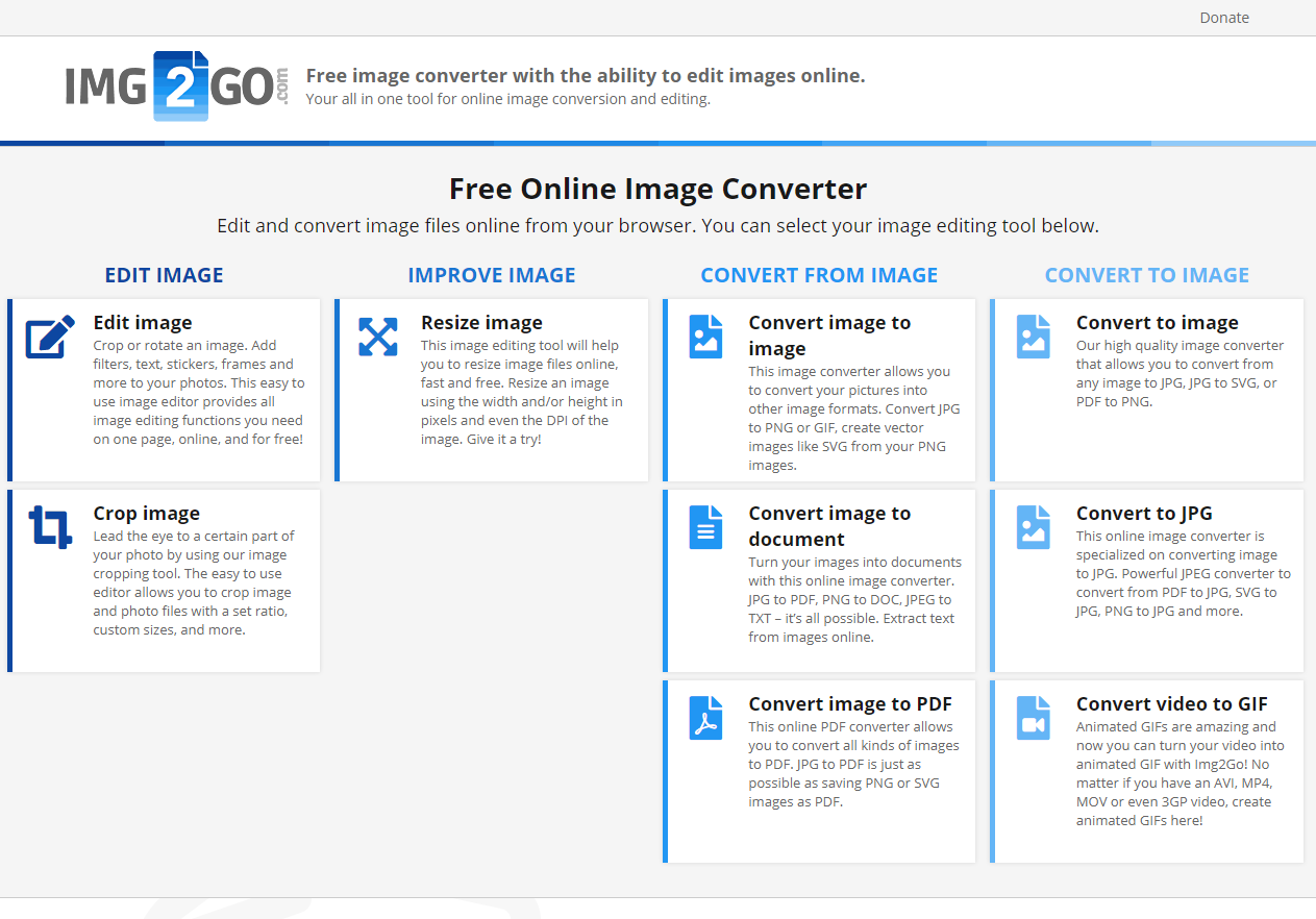 NEW: Edit Images Online & For Free With Img2Go.