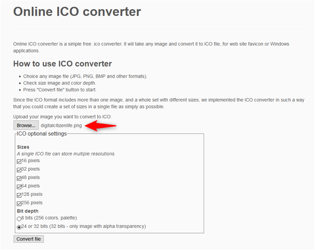 2 ways to convert PNG, SVG, JPG files to ICO files in Windows.