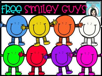 FREE Smiley Face Guys Clip Art Set.