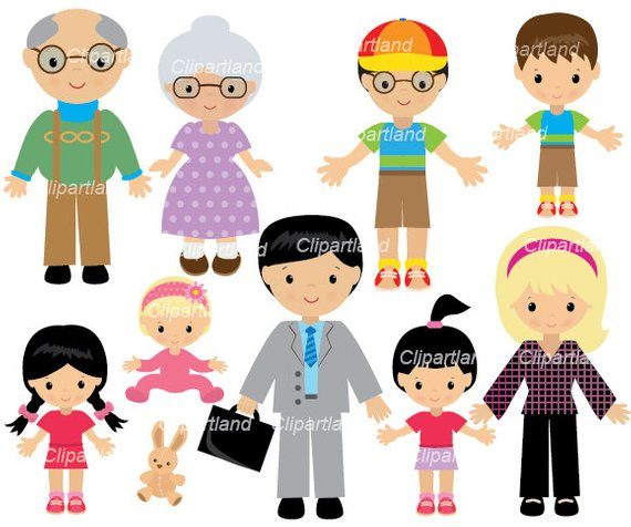 INSTANT Download. Family clip art. Cf_9. Personal and.