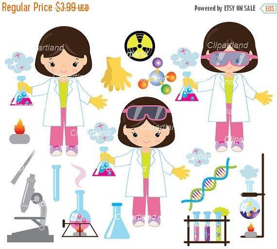 ON SALE INSTANT Download. CChem_5_Chemist_girl. Chemist clip.