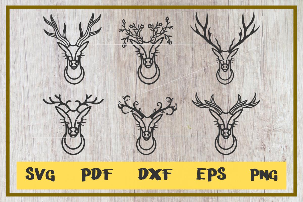 Deer Head svg,kind of Horns Ilustration, clip art, cut file.