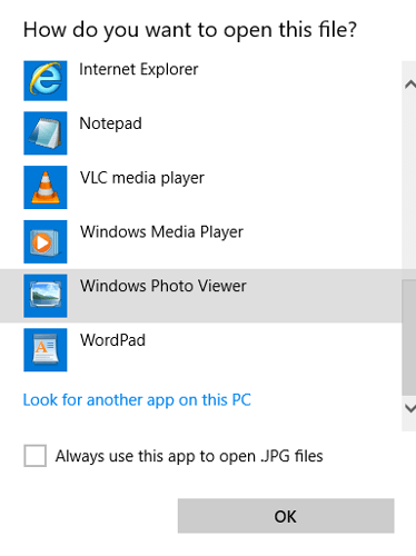 How to Set Windows Photo Viewer as Default in Windows 10.