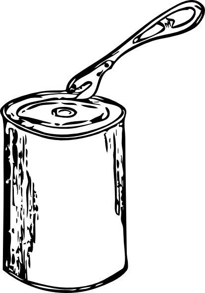 Can Opener And Can clip art Free vector in Open office.
