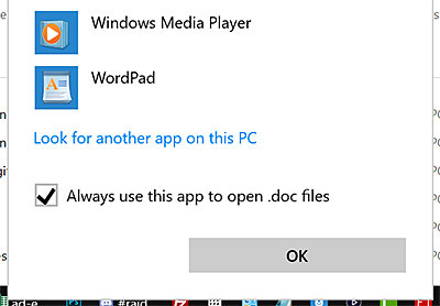 Windows 10: Change the Default Program for Opening Files.