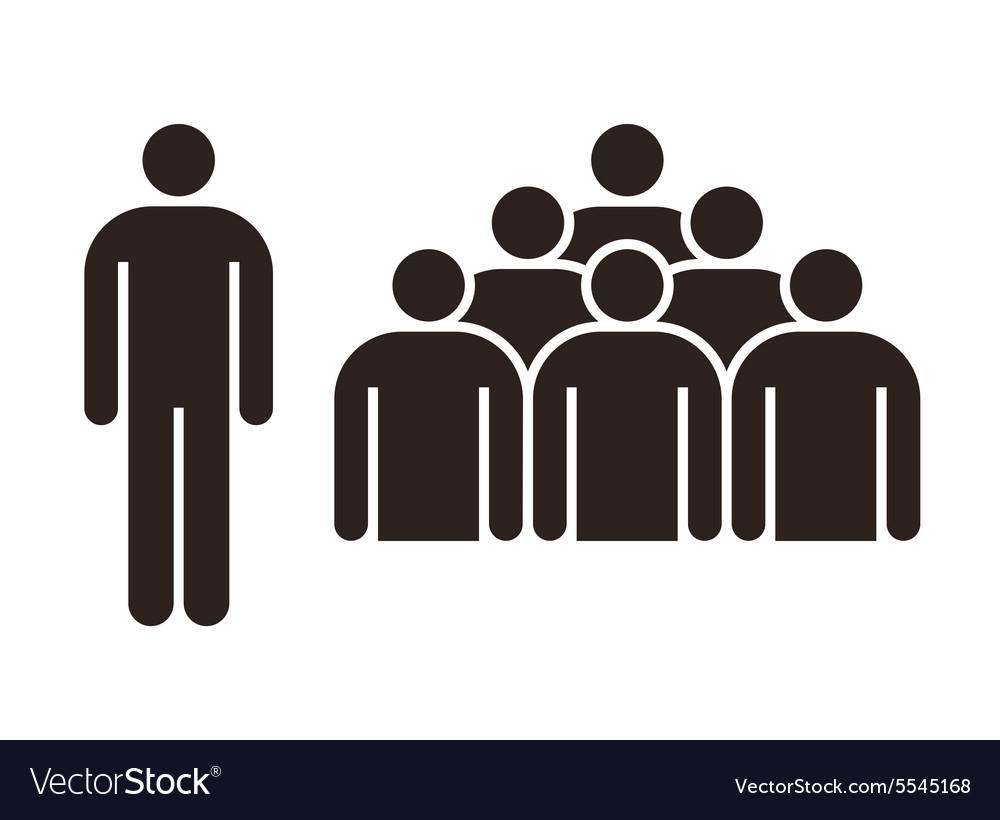 Human figure and group of people.