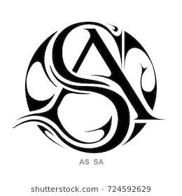 Monogram A,S & S,A.