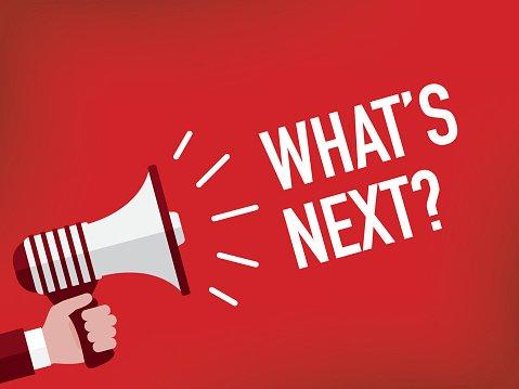 Announcement Concept: WHAT\'S NEXT? Clipart Image.