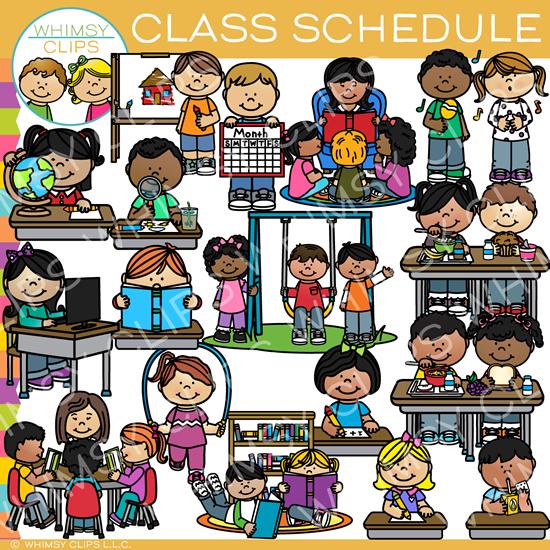 Class Schedule Clip Art.