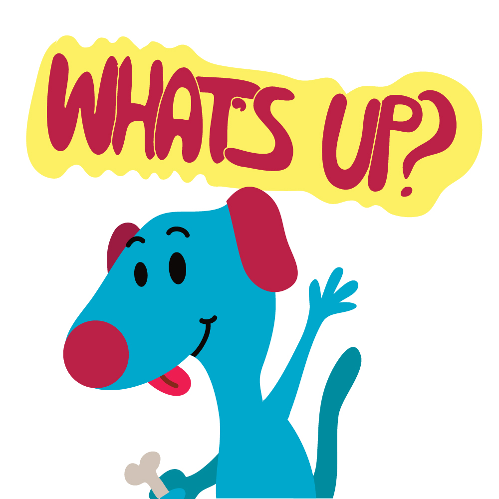 Free Vectors: Dog Says What\'s up?.