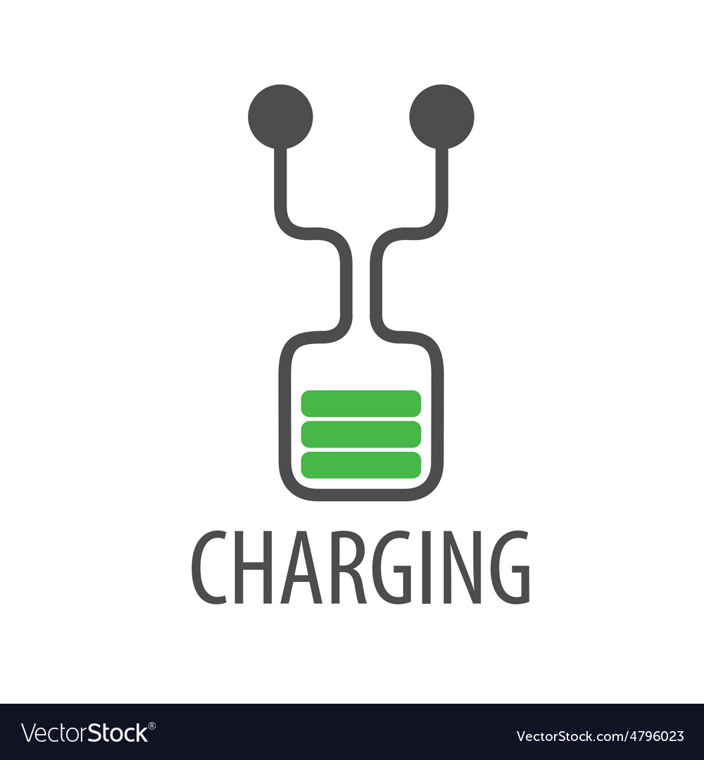 Logo abstract battery charge.