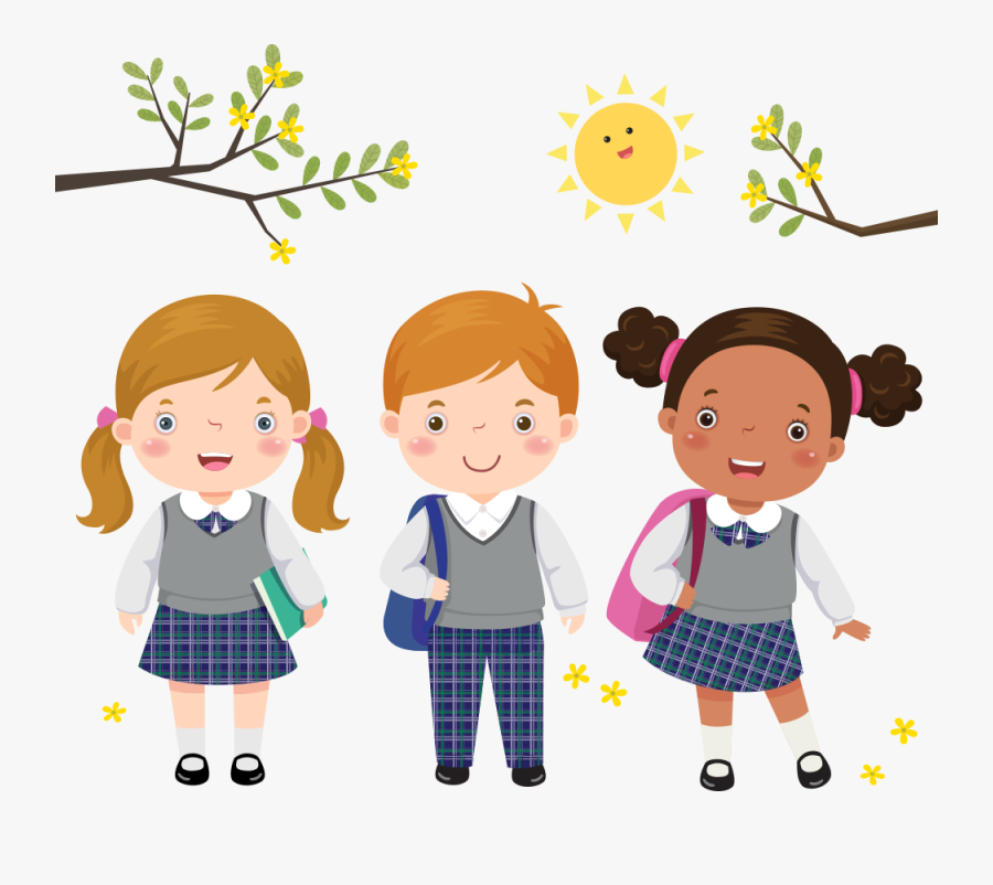 School Uniforms Uniform Vector Wear Student Child Clipart.