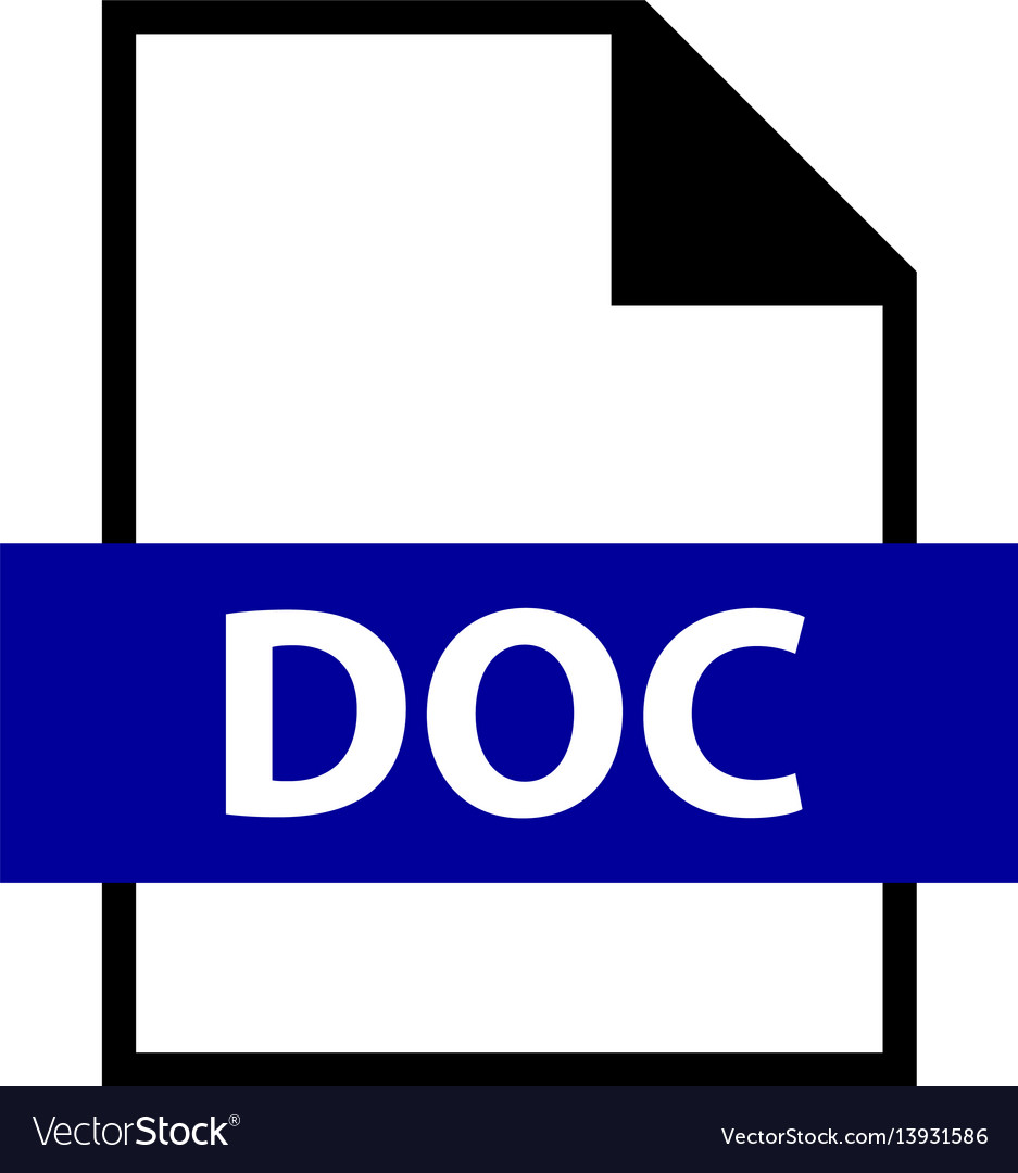 File name extension doc type.