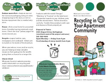 List of Recycling Services in Whatcom County.