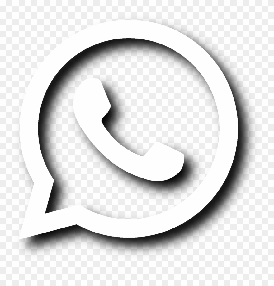 Logo Whatsapp Branco Png Clipart (#4869535).