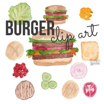 Hamburger Clip Art Barbecue BBQ Clipart.