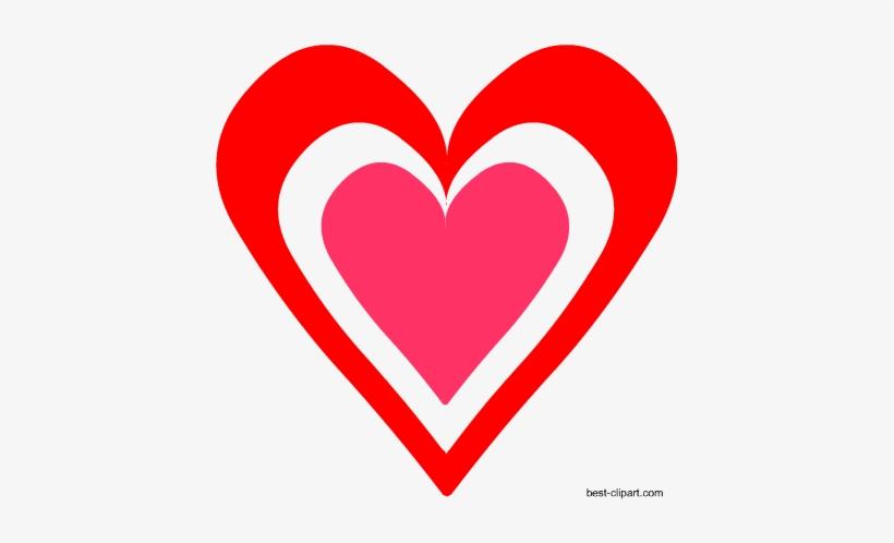 Heart Inside A Heart Free Clip Art.