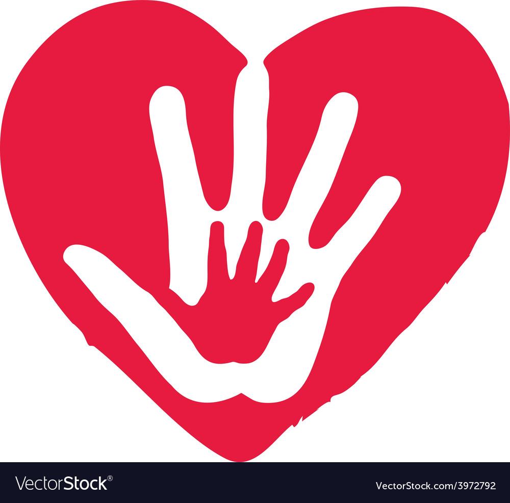 Hands Inside Big Red Heart.
