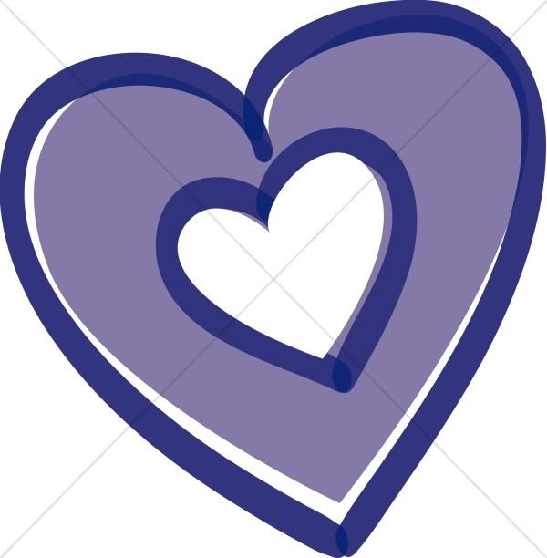 Purple Heart with Heart Inside.