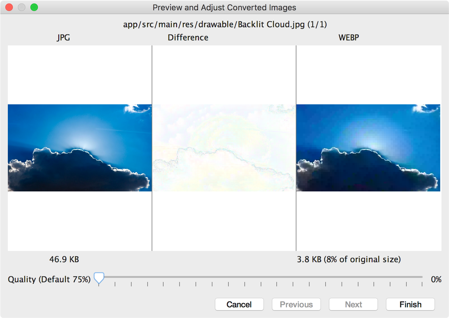 Convert Your PNG & JPEG into WebP Images Android.