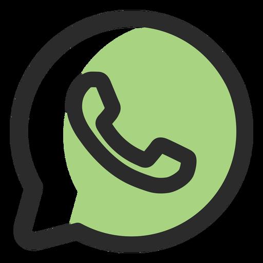 Whatsapp colored stroke icon.