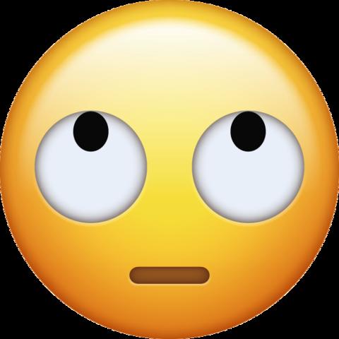 Eye Roll Emoji in PNG [Free Download IOS Emojis].