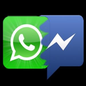Facebook Messenger Vs WhatsApp Logo Png #44103.