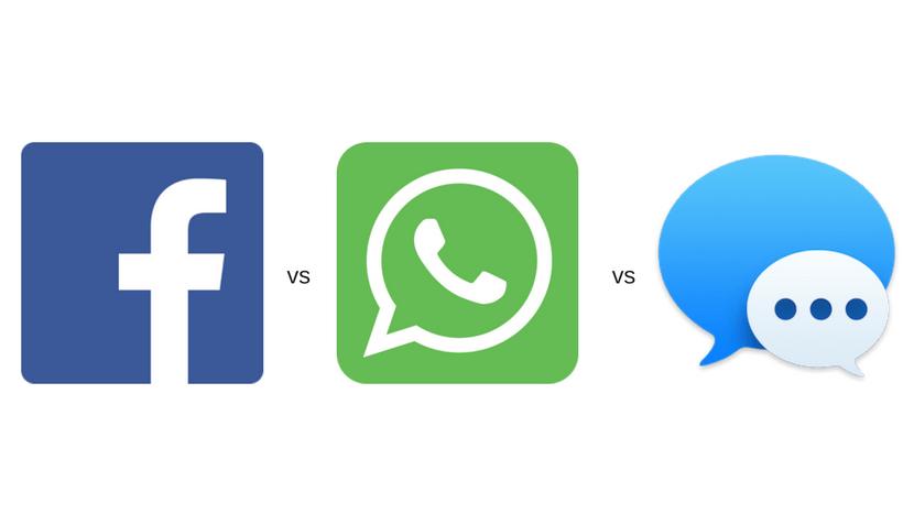 Facebook Messenger vs iMessage vs WhatsApp.