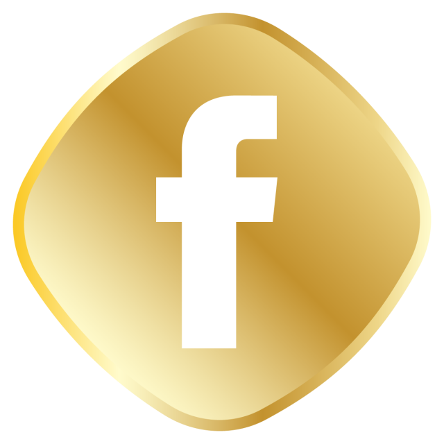 Golden Facebook Icon, Royal, Golden, Icon Set PNG and Vector.