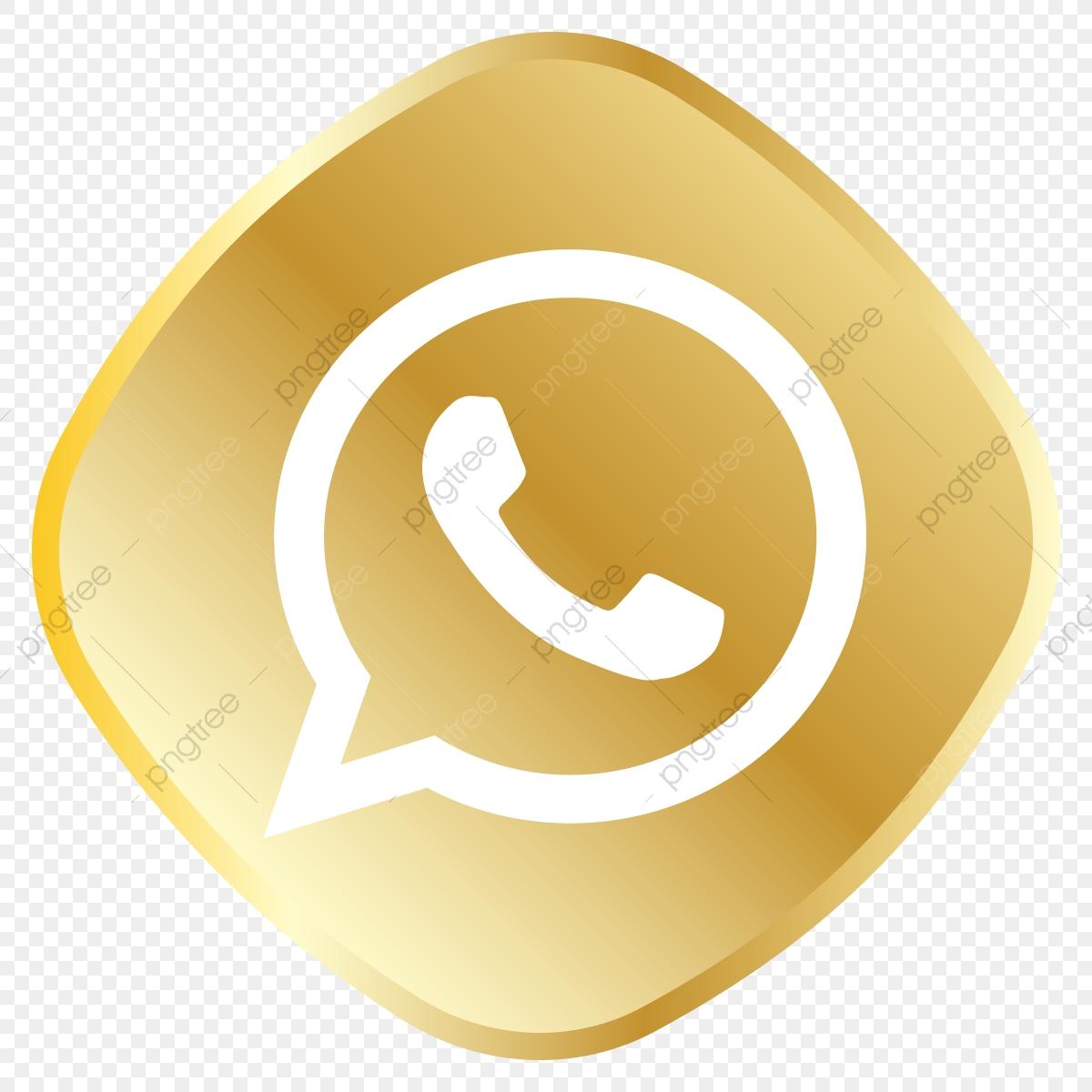 Golden Whatsapp Icon Whatsapp Logo, Royal, Golden, Icon Set PNG and.