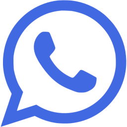 Royal blue whatsapp icon.
