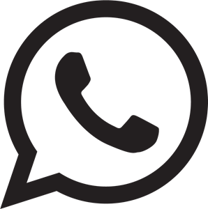Whatsapp Logo Black and White transparent PNG.