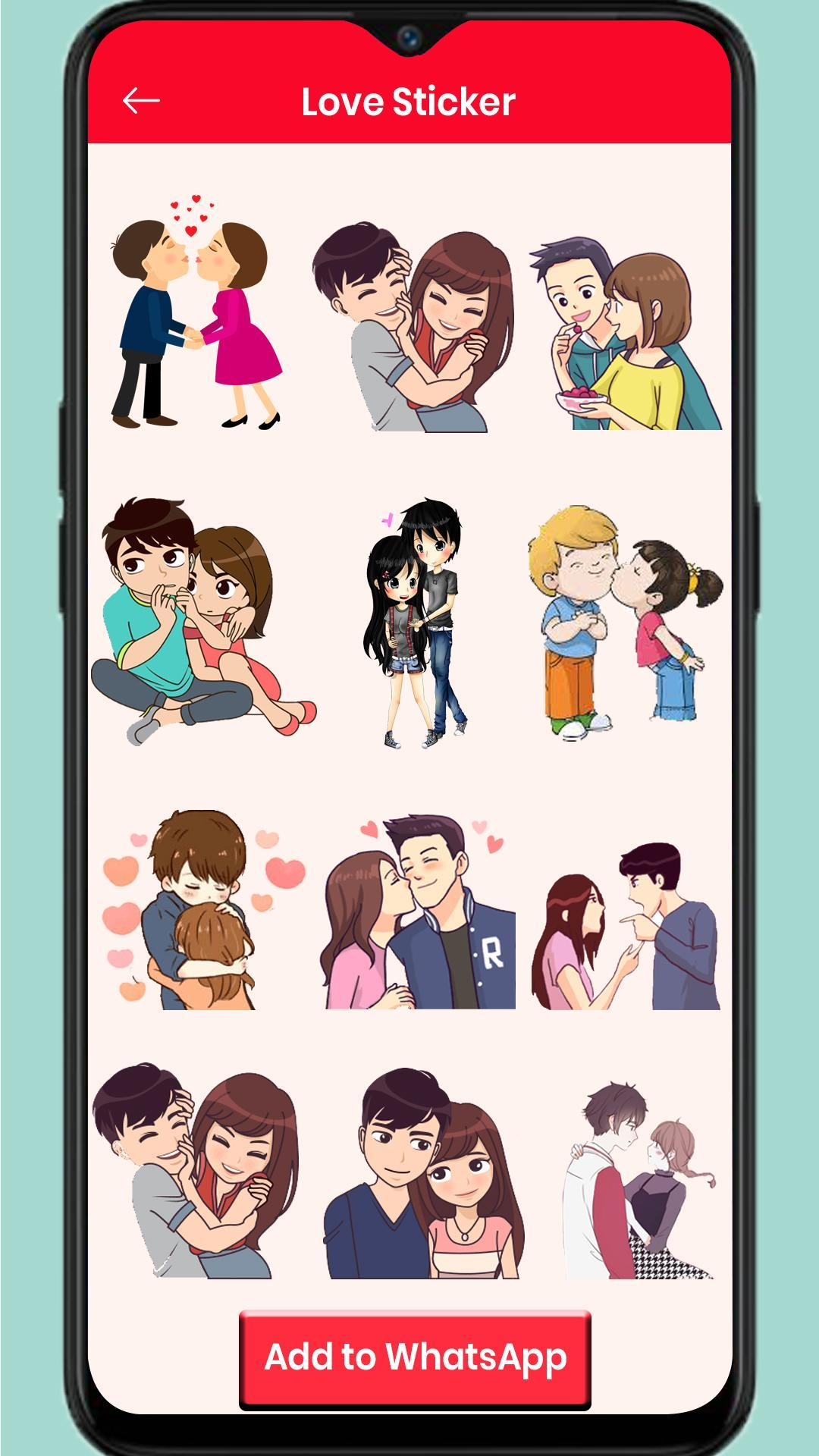Love Stickers : Chat Stickers for Android.