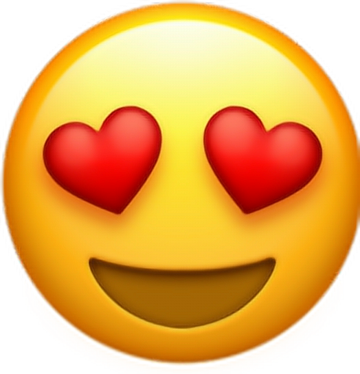 Download Emoticon Heart Smiley Upscale Whatsapp Emoji HQ PNG Image.