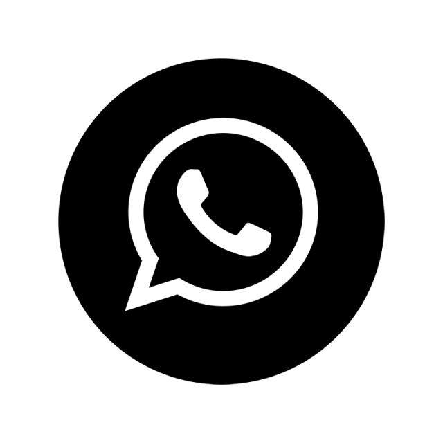 Icono Whatsapp Png Negro Vector, Clipart, PSD.