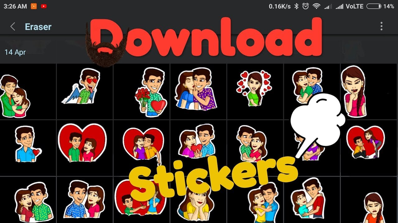 How to download sticker for whatsapp status(Editing).
