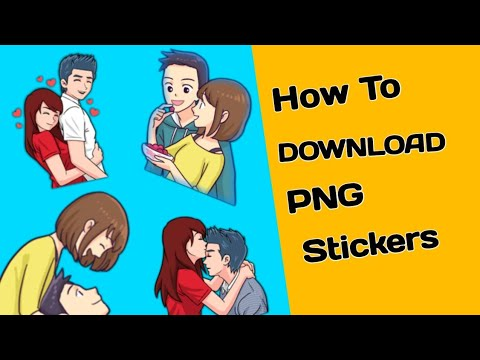 How To Download PNG stickers.