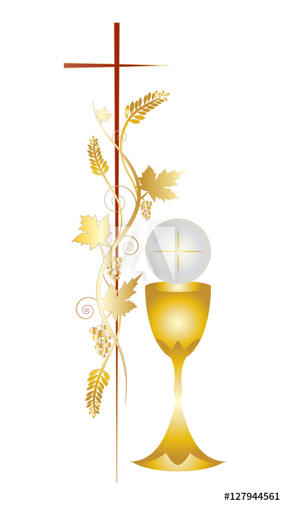 Photo & Art Print First communion vector color design.