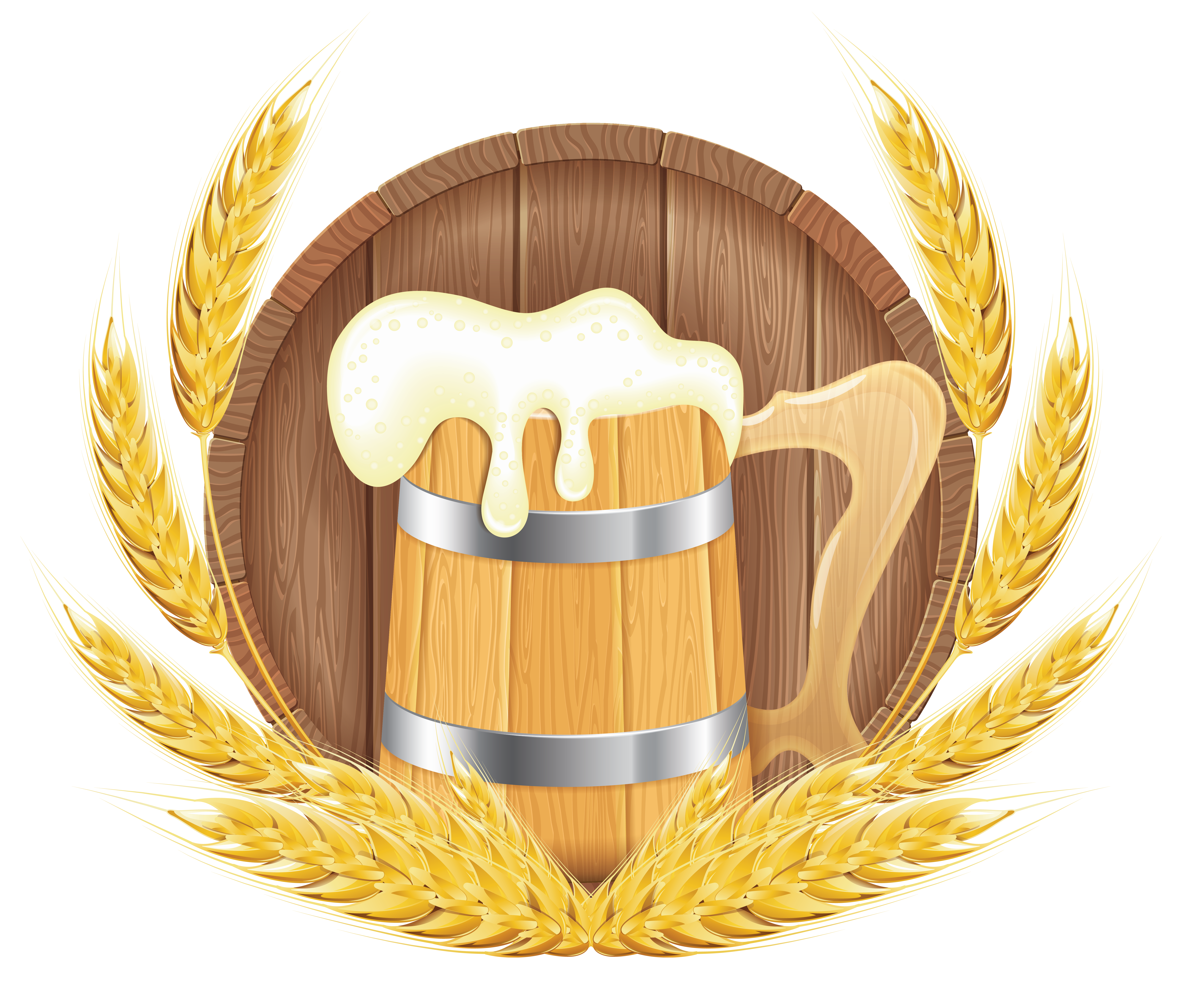Wheat beer clipart #14