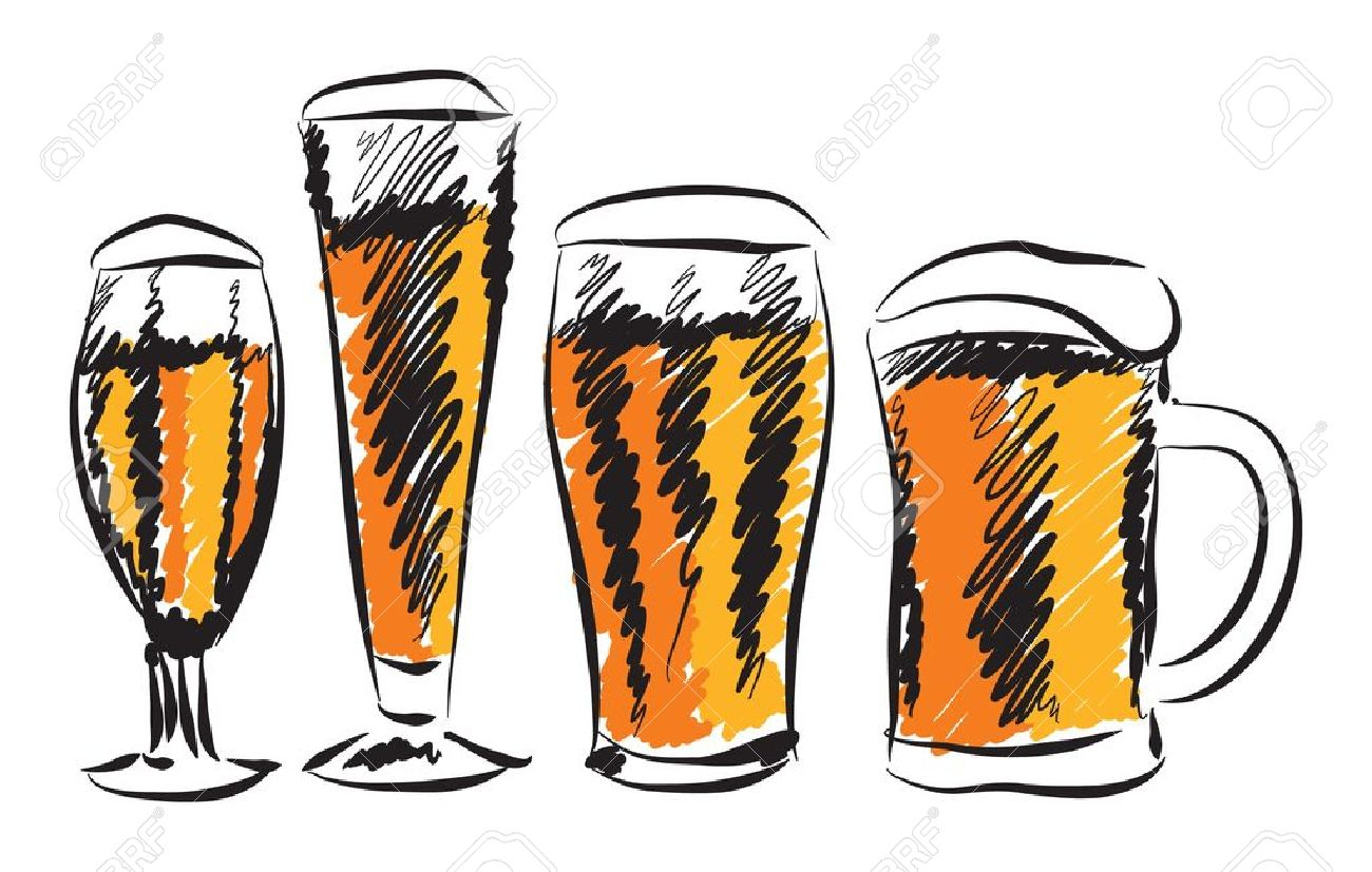 BEER GLASSES ILLUSTRATION Royalty Free Cliparts, Vectors, And.