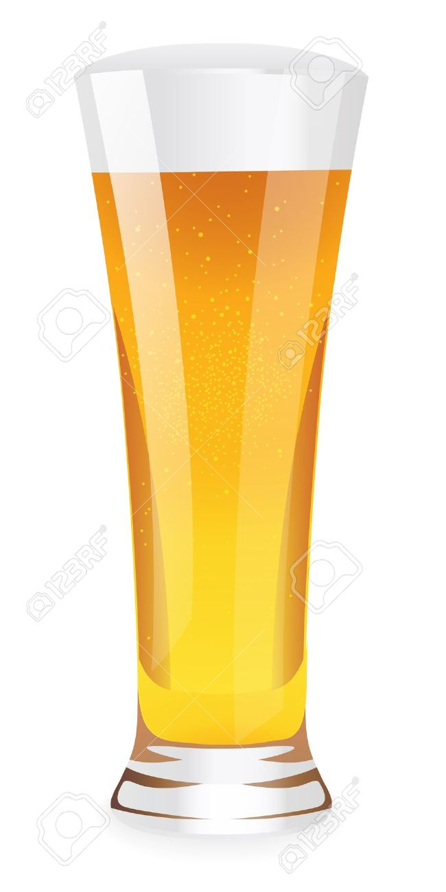 Beer Pilsner Clipart With Transparent Background.