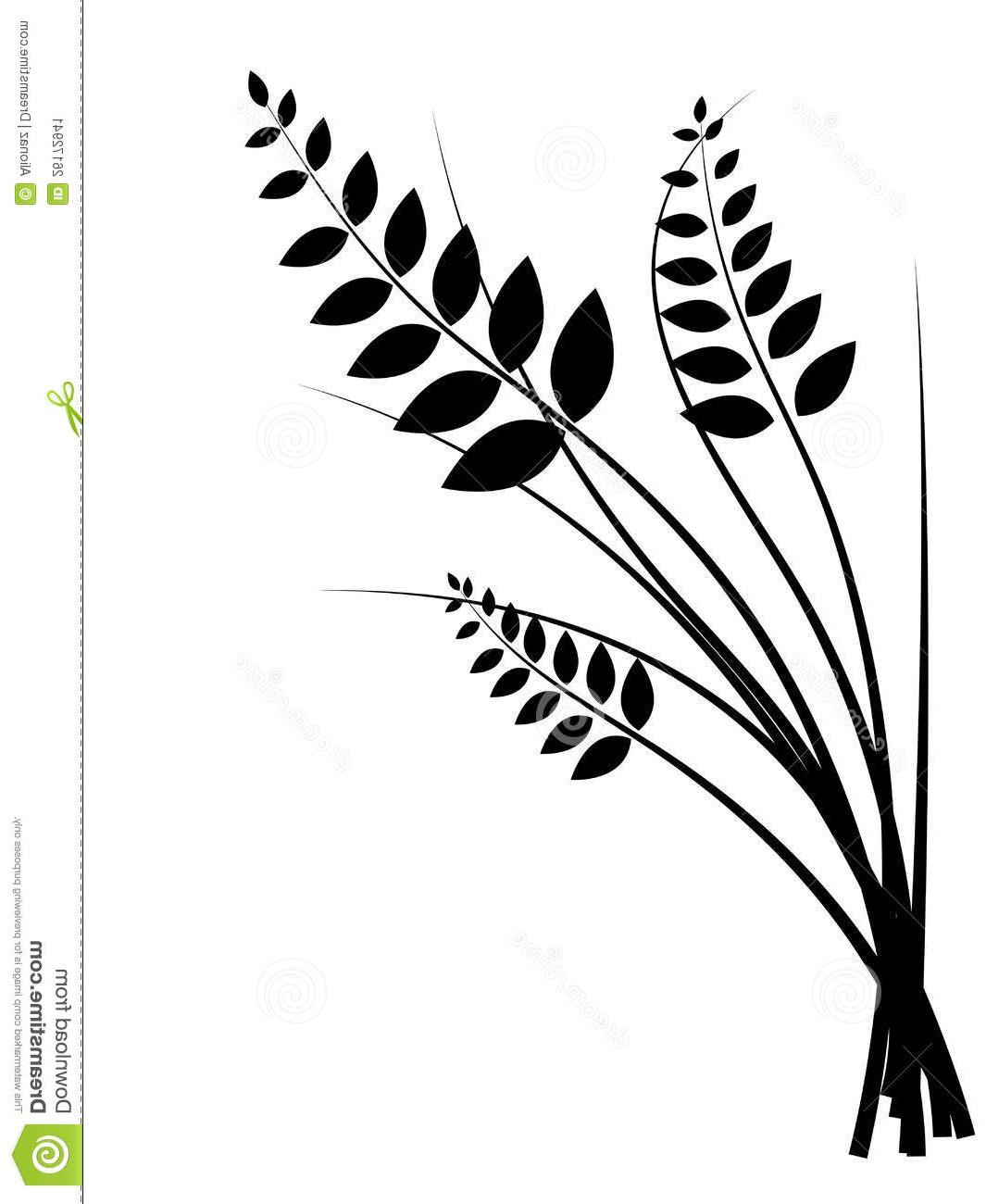 HD Wheat Clip Art Black And White Design » Free Vector Art, Images.