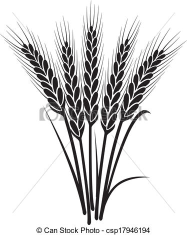 Wheat Clipart Black And White.