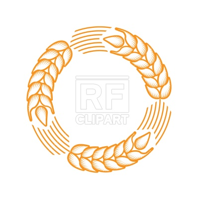 Wheat ear round frame Vector Image #711.