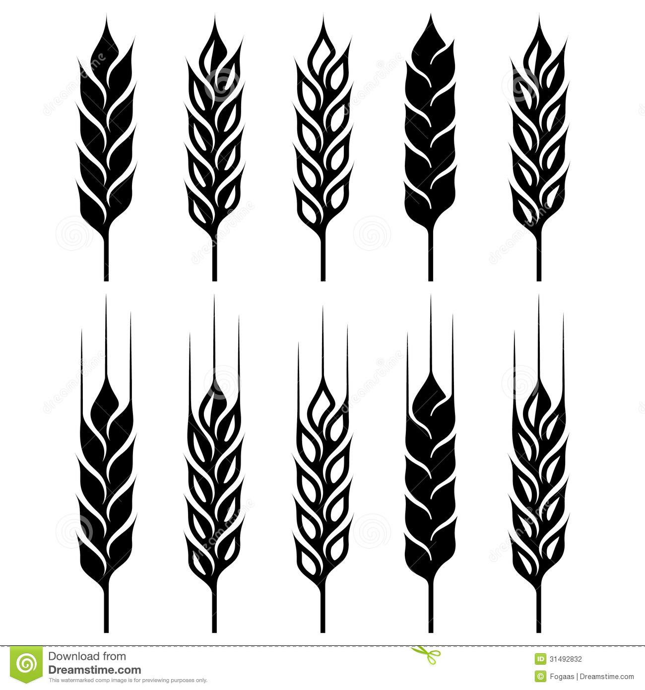 Wheat Ears Clip Art.
