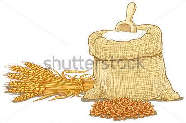 Wheat flour clipart.