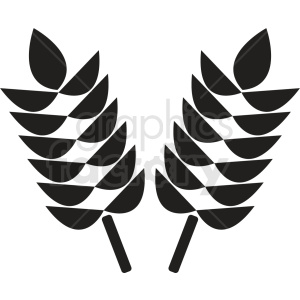 wheat icon no background clipart. Royalty.